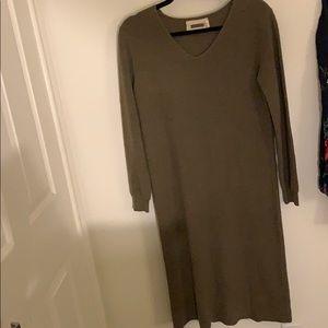 Sundry Olive Green sweater dress size medium
